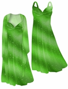 SALE! Brilliant Green Glitter Oblique 2 Piece  Plus Size SuperSize Princess Seam Dress Set 3x