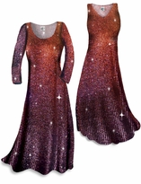 NEW! Customizable Gilttery Brown With Copper Vertical Lines Glitter Print Plus Size & Supersize Standard or Cascading A-Line or Princess Cut Dresses & Shirts, Jackets, Pants, Palazzo's or Skirts Lg to 9x