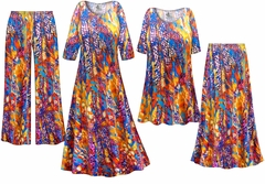 NEW! Color Infusion Slinky Print - Plus Size Slinky Dresses Shirts Jackets Pants Palazzo�s & Skirts - Sizes Lg to 9x