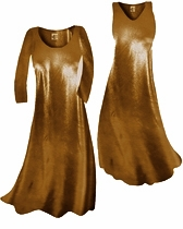 Customize Copper Metallic Slinky Print Plus Size & Supersize Standard or Cascading A-Line or Princess Cut Dresses & Shirts, Jackets, Pants, Palazzo's or Skirts Lg to 9x