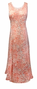 SOLD OUT! SALE! Coral Orange and Gray Cheetah Poly Cotton Print Plus Size Princess Cut Tank Dresses 8x