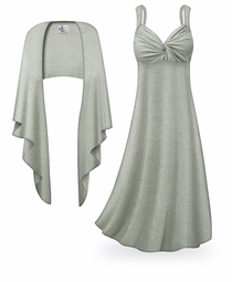 SOLD OUT! NEW! Customizable 2-Piece Gray with Silver Glimmer Plus Size & SuperSize Princess Seam Dress Set 0x 1x 2x 3x 4x 5x 6x 7x 8x