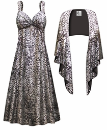NEW! Customizable 2-Piece Silver & Black Sparkly Sequins Slinky Plus Size SuperSize Princess Seam Dress Set 0x 1x 2x 3x 4x 5x 6x 7x 8x