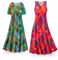 NEW! Customizable Birds of a Feather Slinky Print Plus Size & Supersize Standard or Cascading A-Line or Princess Cut Dresses & Shirts, Jackets, Pants, Palazzo�s or Skirts Lg to 9x