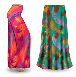 NEW! Customizable Birds of a Feather Slinky Print Special Order Plus Size & Supersize Pants, Capri's, Palazzos or Skirts! Lg to 9x