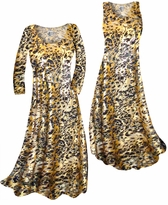 Customizable Black Ornate With Gold Metallic Slinky Print Plus Size & Supersize Standard or Cascading A-Line or Princess Cut Dresses & Shirts, Jackets, Pants, Palazzo's or Skirts Lg to 9x