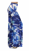 NEW! Customizable Blue Naga Marshes Slinky Print Special Order Plus Size & Supersize Pants, Capri's, Palazzos or Skirts! Lg to 9x