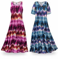 NEW! Customizable City Chic Slinky Print Plus Size & Supersize Standard or Cascading A-Line or Princess Cut Dresses & Shirts, Jackets, Pants, Palazzo�s or Skirts Lg to 9x