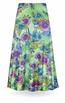 NEW! Customizable Flower Illuminations Slinky Print Special Order Plus Size & Supersize Pants, Capri's, Palazzos or Skirts! Lg to 9x
