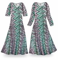 NEW! Customizable Green Leopard Slinky Print Plus Size & Supersize Standard or Cascading A-Line or Princess Cut Dresses & Shirts, Jackets, Pants, Palazzo�s or Skirts Lg to 9x