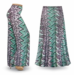 SALE! Customizable Green Leopard Slinky Print Special Order Plus Size & Supersize Pants, Capri's, Palazzos or Skirts! Lg to 9x