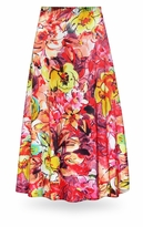 NEW! Customizable Hawaiian Tropic in Red Colors Slinky Print Special Order Plus Size & Supersize Pants, Capri's, Palazzos or Skirts! Lg to 9x