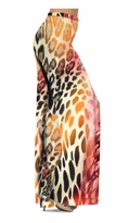 Customizable Hot Pink & Brown Leopard Slinky Print Special Order Customizable Plus Size & Supersize Pants, Capri's, Palazzos or Skirts! Lg to 9x