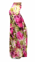 NEW! Customizable Hot Pink & Olive Green Tie Dye Slinky Print Special Order Plus Size & Supersize Pants, Capri's, Palazzos or Skirts! Lg to 9x