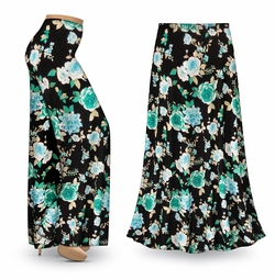 SALE! Customizable Icy Garden Slinky Print Special Order Plus Size & Supersize Pants, Capri's, Palazzos or Skirts! Lg to 9x