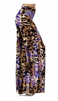 Customizable Indigo Wild Animal Skin Print Slinky Special Order Customizable Plus Size & Supersize Pants, Capri's, Palazzos or Skirts! Lg to 9x