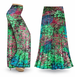 SALE! Customizable Jungle Slinky Print Special Order Plus Size & Supersize Pants, Capri's, Palazzos or Skirts! Lg to 9x