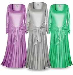 NEW! Customizable Long Sleeve Plus Size & Supersize Shimmer Evening Gown Dresses Lg XL 1x 2x 3x 4x 5x 6x 7x 8x