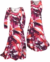 NEW! Customizable Maroon Red Naga Marshes Slinky Print Plus Size & Supersize Standard or Cascading A-Line or Princess Cut Dresses & Shirts, Jackets, Pants, Palazzo's or Skirts Lg to 9x