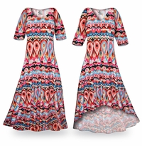 NEW! Customizable Miami Heat Slinky Print Plus Size & Supersize Standard or Cascading A-Line or Princess Cut Dresses & Shirts, Jackets, Pants, Palazzo�s or Skirts Lg to 9x