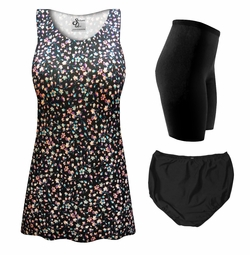 NEW! Customizable Midnight Meadow Print Mix & Match Plus Size Tankini Separates 0x 1x 2x 3x 4x 5x 6x 7x 8x 9x