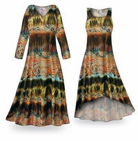 NEW! Customizable Mirage Slinky Print Plus Size & Supersize Standard or Cascading A-Line or Princess Cut Dresses & Shirts, Jackets, Pants, Palazzo�s or Skirts Lg to 9x