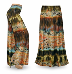 NEW! Customizable Mirage Slinky Print Special Order Plus Size & Supersize Pants, Capri's, Palazzos or Skirts! Lg to 9x