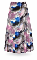 NEW! Customizable Natural Dry Brush/Cobalt Blue and Rose Slinky Print Special Order Plus Size & Supersize Pants, Capri's, Palazzos or Skirts! Lg to 9x
