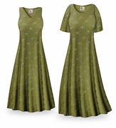 CLEARANCE! Olive Grove Slinky Print Plus Size & Supersize Dresses 6x