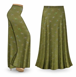NEW! Customizable Olive Grove Slinky Print Special Order Plus Size & Supersize Pants, Capri's, Palazzos or Skirts! Lg to 9x
