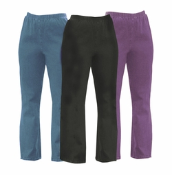 SALE! Customizable Plus Size & Supersize Stretchy Cotton-Lycra Mock Denim Jeans Palazzo's & Capri's 0x 1x 2x 3x 4x 5x 6x 7x 8x 9x Tall - Petite - Standard Lengths