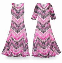 NEW! Customizable Prairie Smoke Slinky Print Plus Size & Supersize Standard or Cascading A-Line or Princess Cut Dresses & Shirts, Jackets, Pants, Palazzo�s or Skirts Lg to 9x