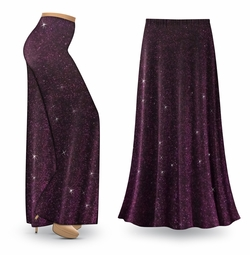 NEW! Customizable Purple Glimmer Print Special Order Plus Size & Supersize Pants, Capri's, Palazzos or Skirts! Lg to 9x