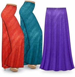 NEW! Customizable Purple, Red or Teal Glitter Special Order Plus Size & Supersize Pants, Capri's, Palazzos or Skirts! Lg to 9x