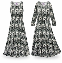 NEW! Customizable Radiance Slinky Print Plus Size & Supersize Standard or Cascading A-Line or Princess Cut Dresses & Shirts, Jackets, Pants, Palazzo�s or Skirts Lg to 9x