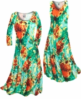 NEW! Customizable Red, Yellow, & Green Tie Dye Slinky Print Plus Size & Supersize Standard or Cascading A-Line or Princess Cut Dresses & Shirts, Jackets, Pants, Palazzo's or Skirts Lg to 9x