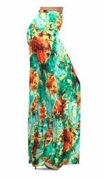 NEW! Customizable Red, Yellow, & Green Tie Dye Slinky Print Special Order Plus Size & Supersize Pants, Capri's, Palazzos or Skirts! Lg to 9x