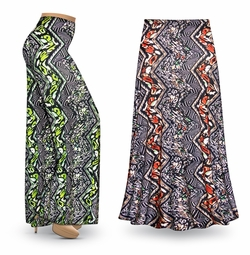 SALE! Customizable Safari Slinky Print Special Order Plus Size & Supersize Pants, Capri's, Palazzos or Skirts! Lg to 9x