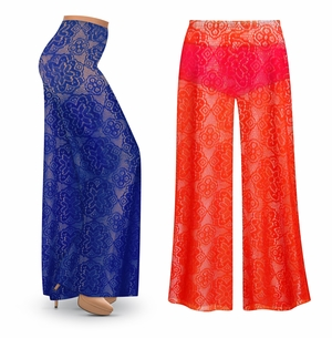NEW! Customizable Stretchy Crochet Lace Plus Size Supersize Palazzo Pants - Swimsuit Coverup Sizes Lg XL 1x 2x 3x 4x 5x 6x 7x 8x 9x