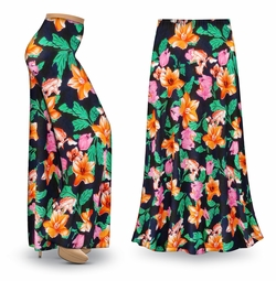 NEW! Customizable Sweet Lilies Slinky Print Special Order Plus Size & Supersize Pants, Capri's, Palazzos or Skirts! Lg to 9x