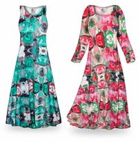 Customizable Tango Slinky Print Plus Size & Supersize Standard or Cascading A-Line or Princess Cut Dresses & Shirts, Jackets, Pants, Palazzo�s or Skirts Lg to 9x