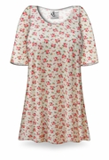 CLEARANCE! Tea Garden Print Plus Size & Supersize Extra Long T-Shirts 8x