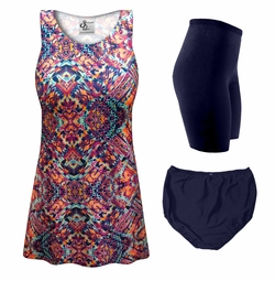 NEW! Customizable Tribal Print Mix & Match Plus Size Tankini Separates 0x 1x 2x 3x 4x 5x 6x 7x 8x 9x