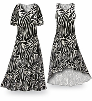 NEW! Customizable Zebra Slinky Print Plus Size & Supersize Standard or Cascading A-Line or Princess Cut Dresses & Shirts, Jackets, Pants, Palazzo�s or Skirts Lg to 9x