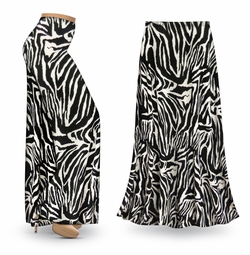 NEW! Customizable Zebra Slinky Print Special Order Plus Size & Supersize Pants, Capri's, Palazzos or Skirts! Lg to 9x
