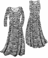 Customizable Zebra Stripes Print Slinky Plus Size & Supersize Standard or Cascading A-Line or Princess Cut Dresses & Shirts, Jackets, Pants, Palazzo's or Skirts Lg to 9x