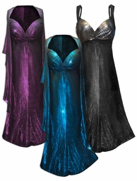NEW! Customizable 2 Piece Metallic Vertical Lines in Fuchsia, Silver, or Blue & Black Slinky Print 2 Piece Plus Size SuperSize Princess Seam Dress Set 0x 1x 2x 3x 4x 5x 6x 7x 8x 9x