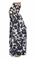 NEW! Customize Black & Gray Abstract Floral Slinky Print Special Order Plus Size & Supersize Pants, Capri's, Palazzos or Skirts! Lg to 9x