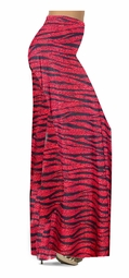 Customize Red With Black Zebra Stripes With Dots Slinky Print Special Order Plus Size & Supersize Pants, Capri's, Palazzos or Skirts! Lg to 9x