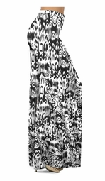 NEW! Customize Black & White Ink Blots Slinky Print Special Order Plus Size & Supersize Pants, Capri's, Palazzos or Skirts! Lg to 9x